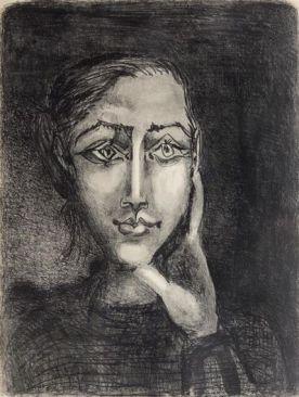Pablo Picasso - Francoise sur Fond Gris, 1950